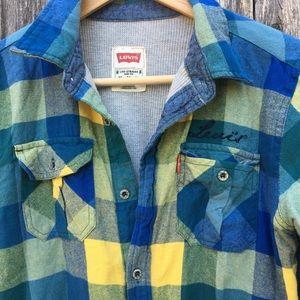 Unique Levi's Thermal Lined Plaid Flannel Shirt